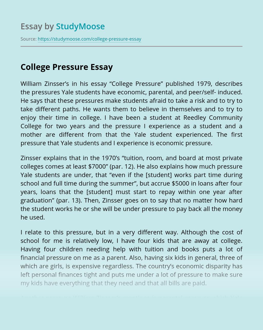 College Pressure