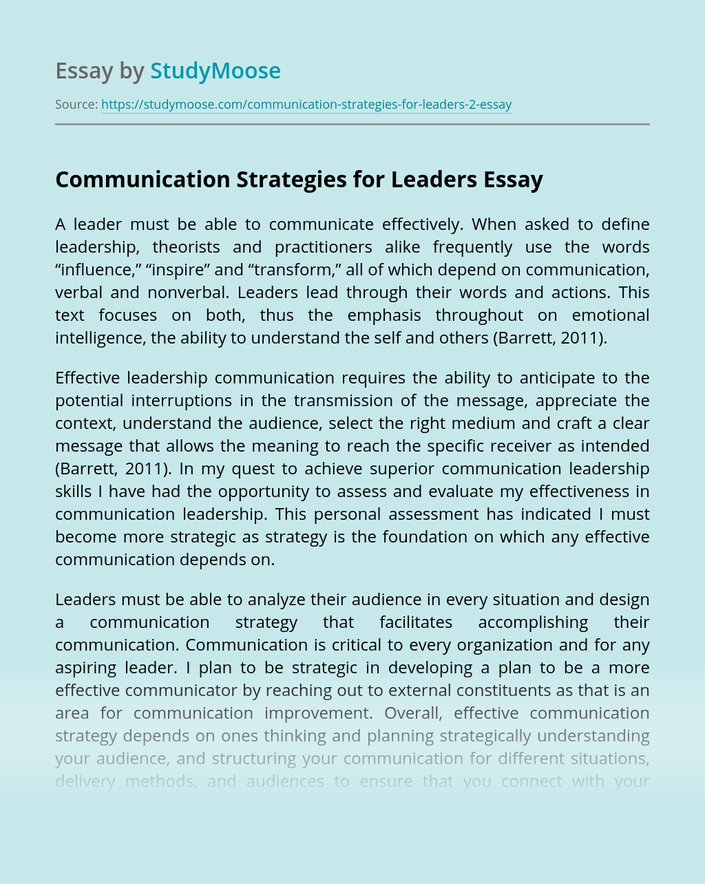 Communication Strategies for Leaders