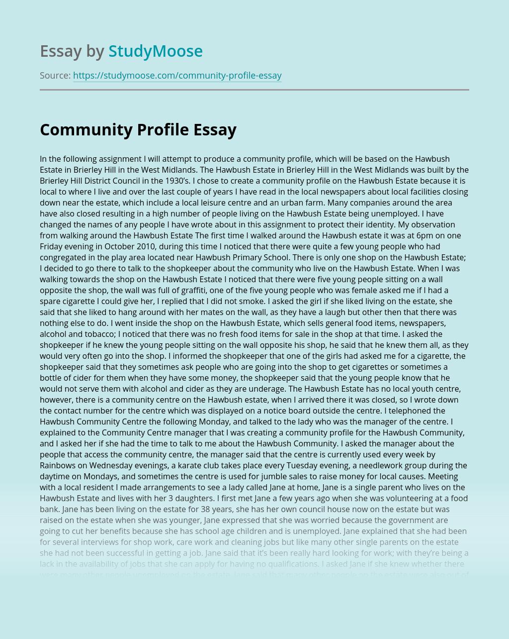 Community Profile