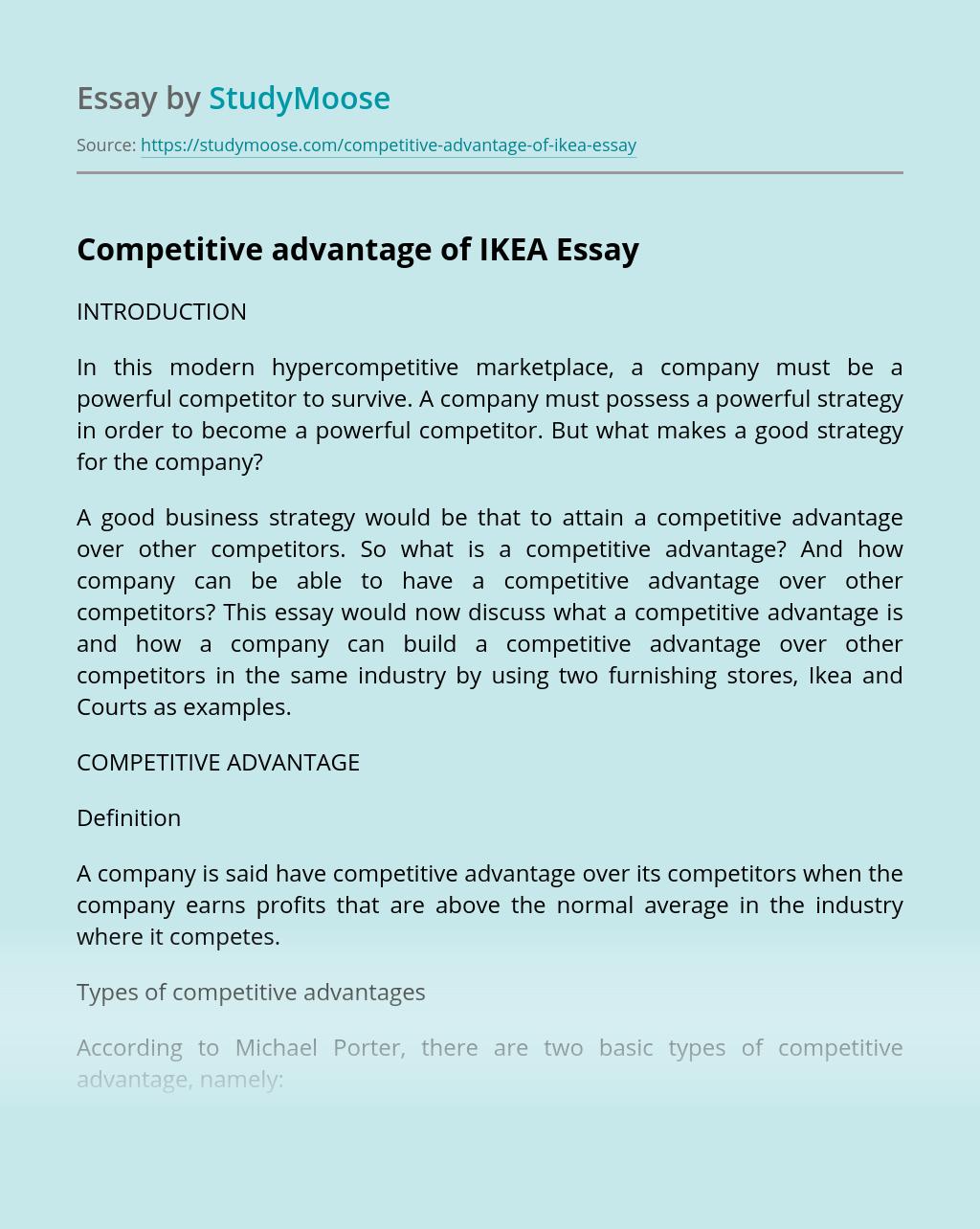 Competitive Advantage of IKEA