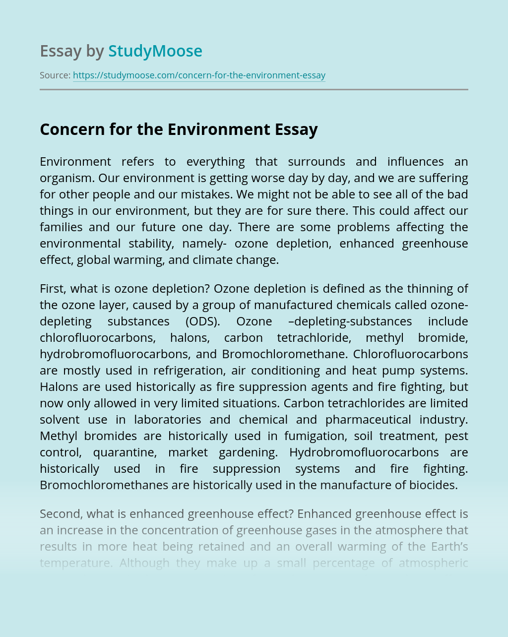 Environment essay topics, Environment essay samples