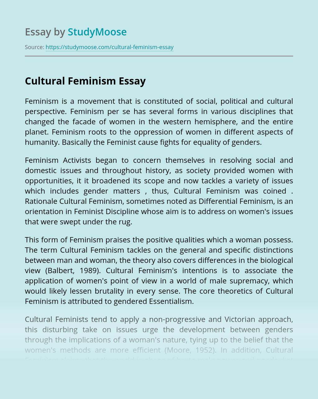 Cultural Feminism