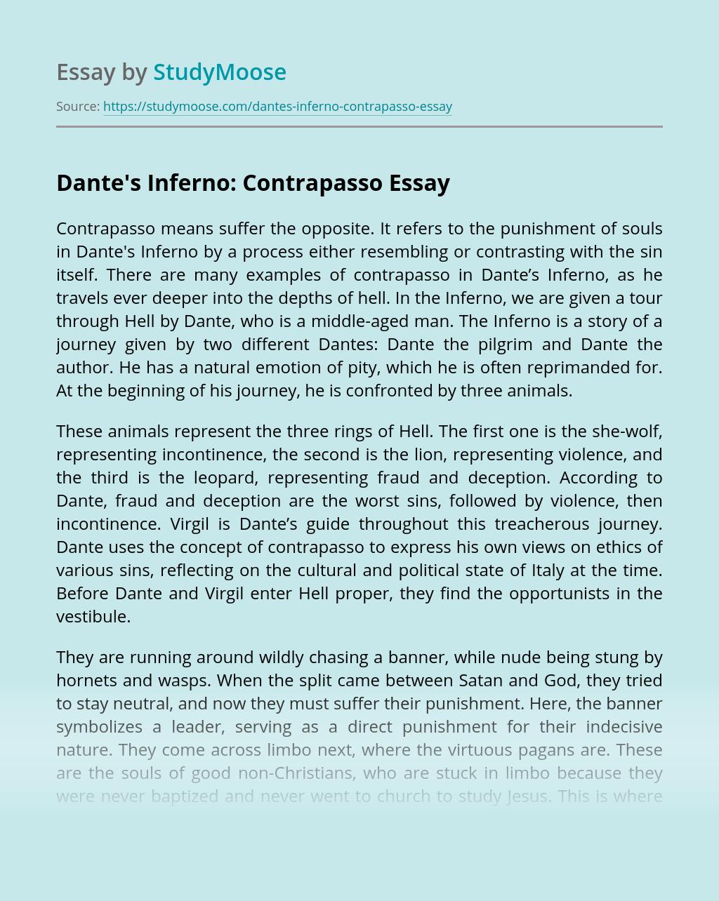 Dante's Inferno: Contrapasso