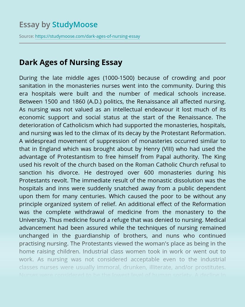 Dark Ages of Nursing