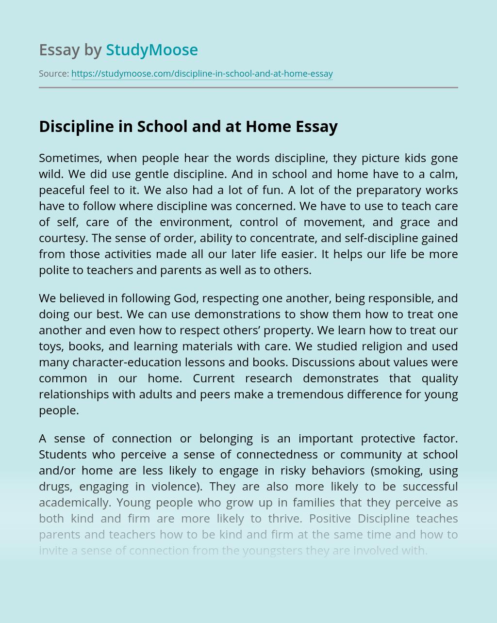Word Essay On Self Discipline Free Essays