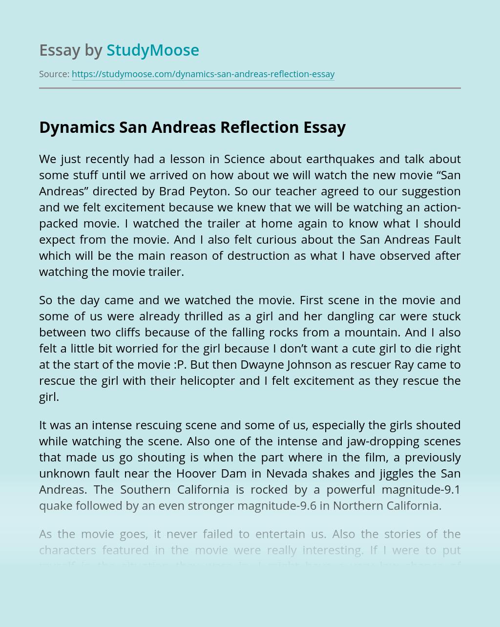Dynamics San Andreas Reflection