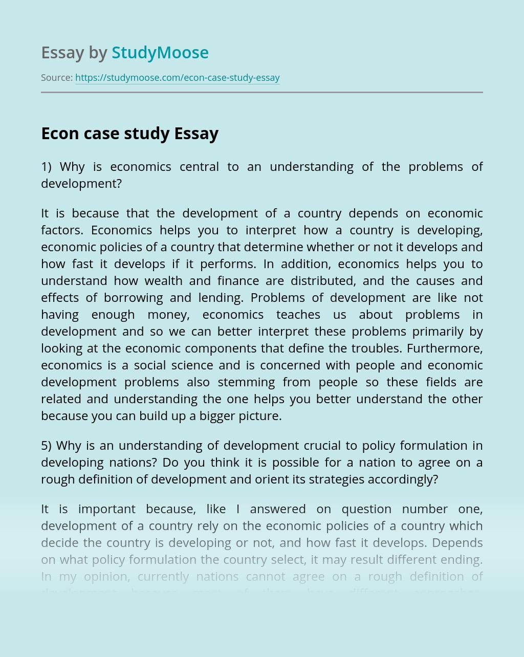 Econ case study