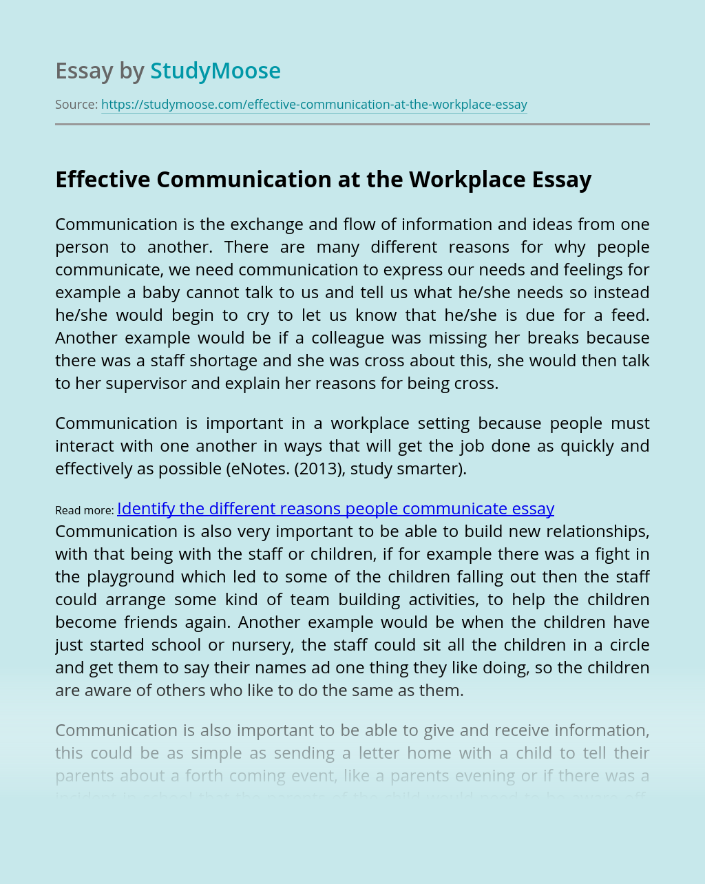 How to start an essay on effective communication cover letter civil structural engineer