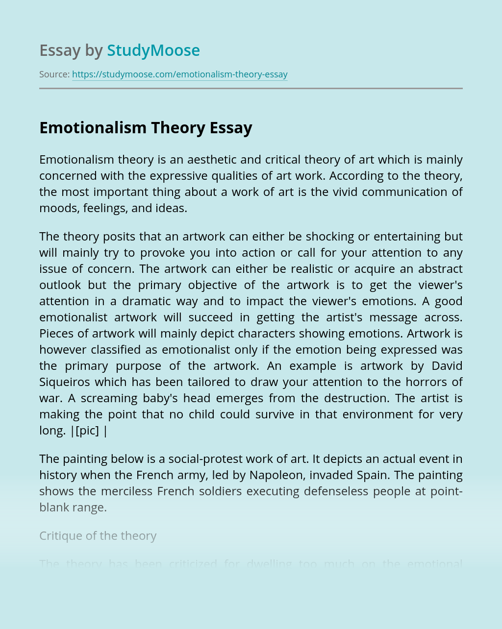 Emotionalism Theory