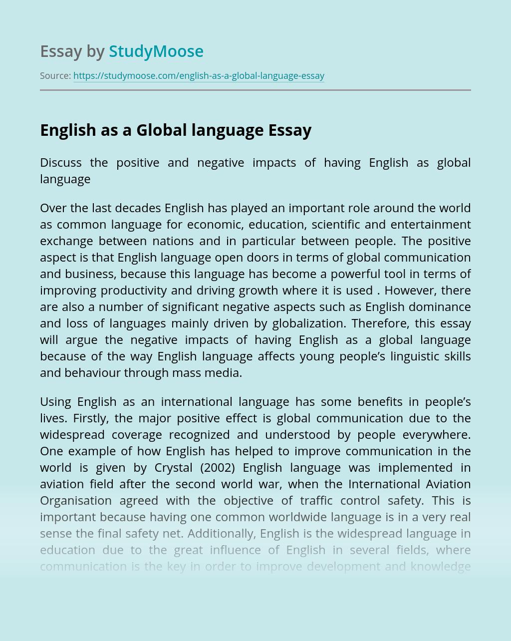 English is international language essay custom letter writer site gb