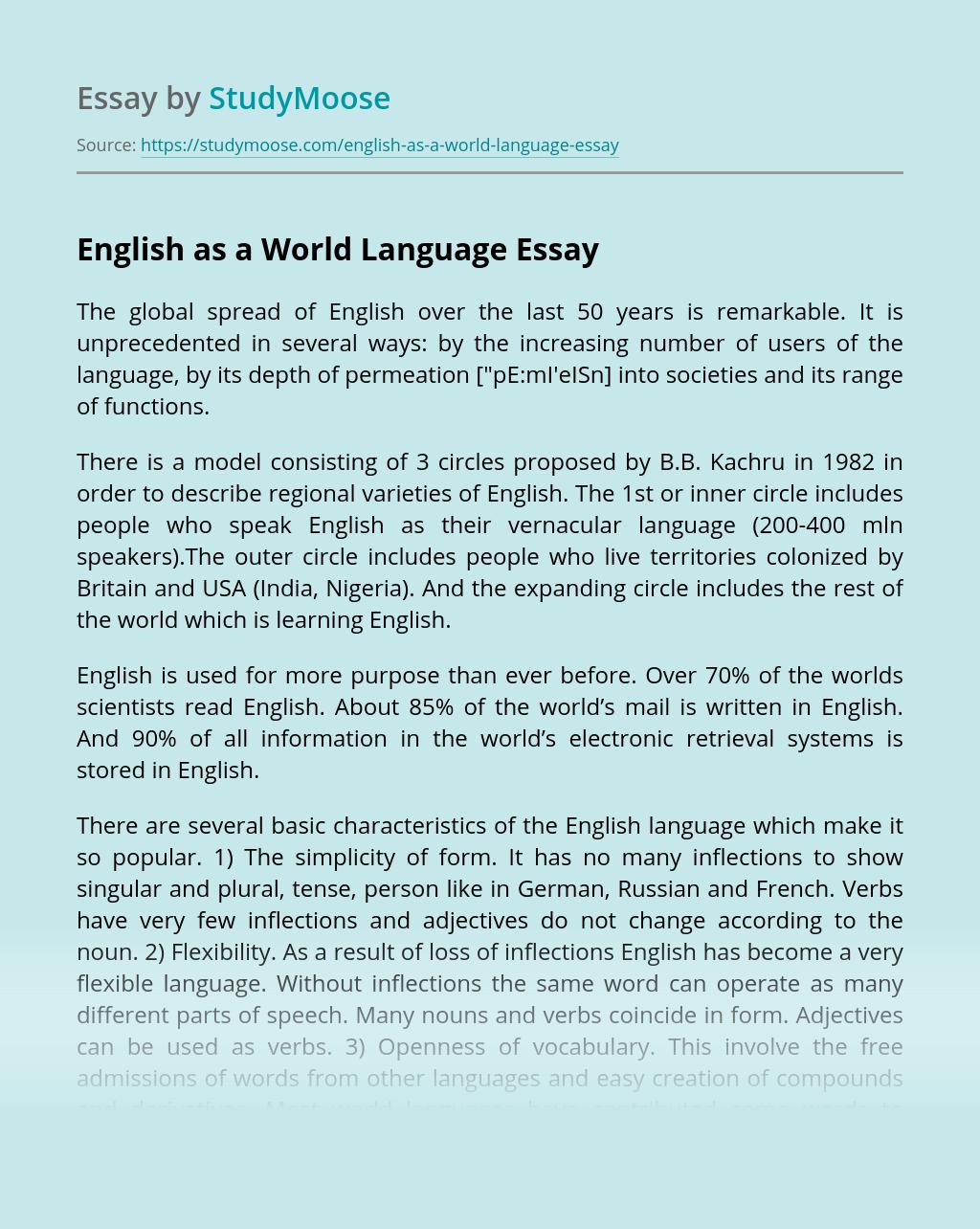 English as a World Language