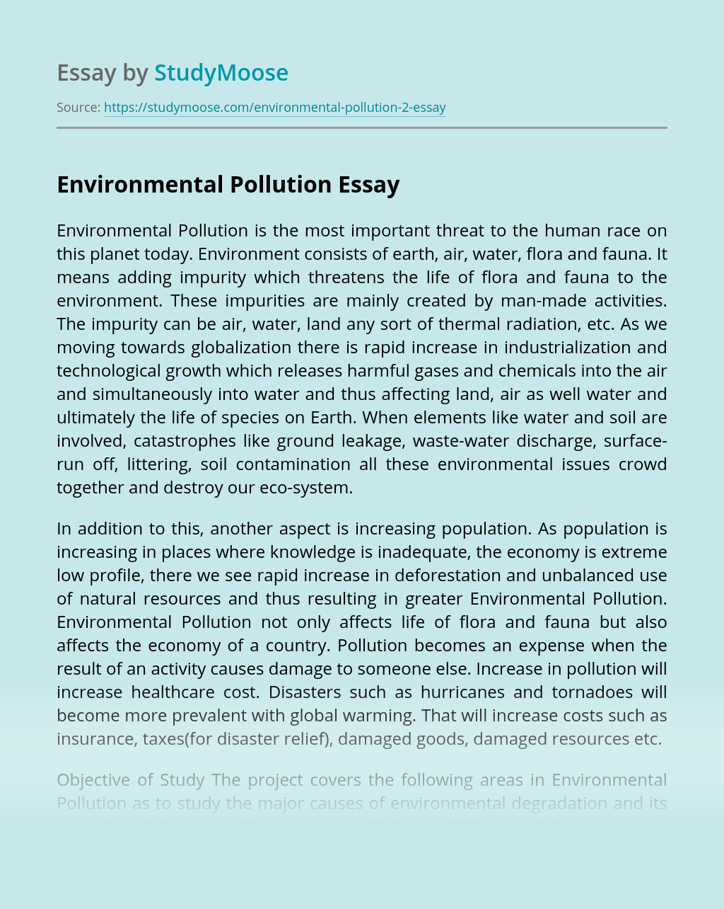 Essays on pollution in india master thesis interviews