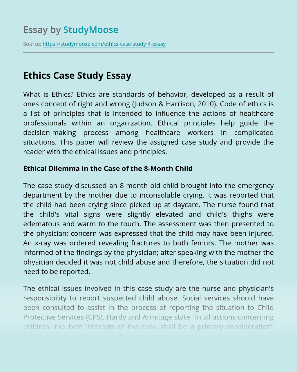 Ethics Case Study