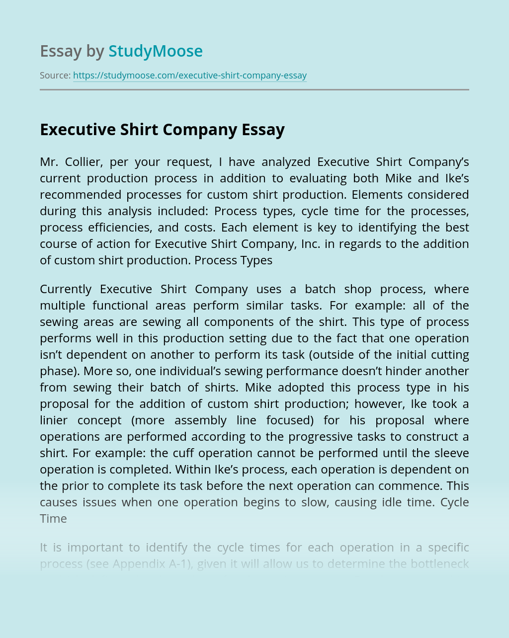 Executive Shirt Company