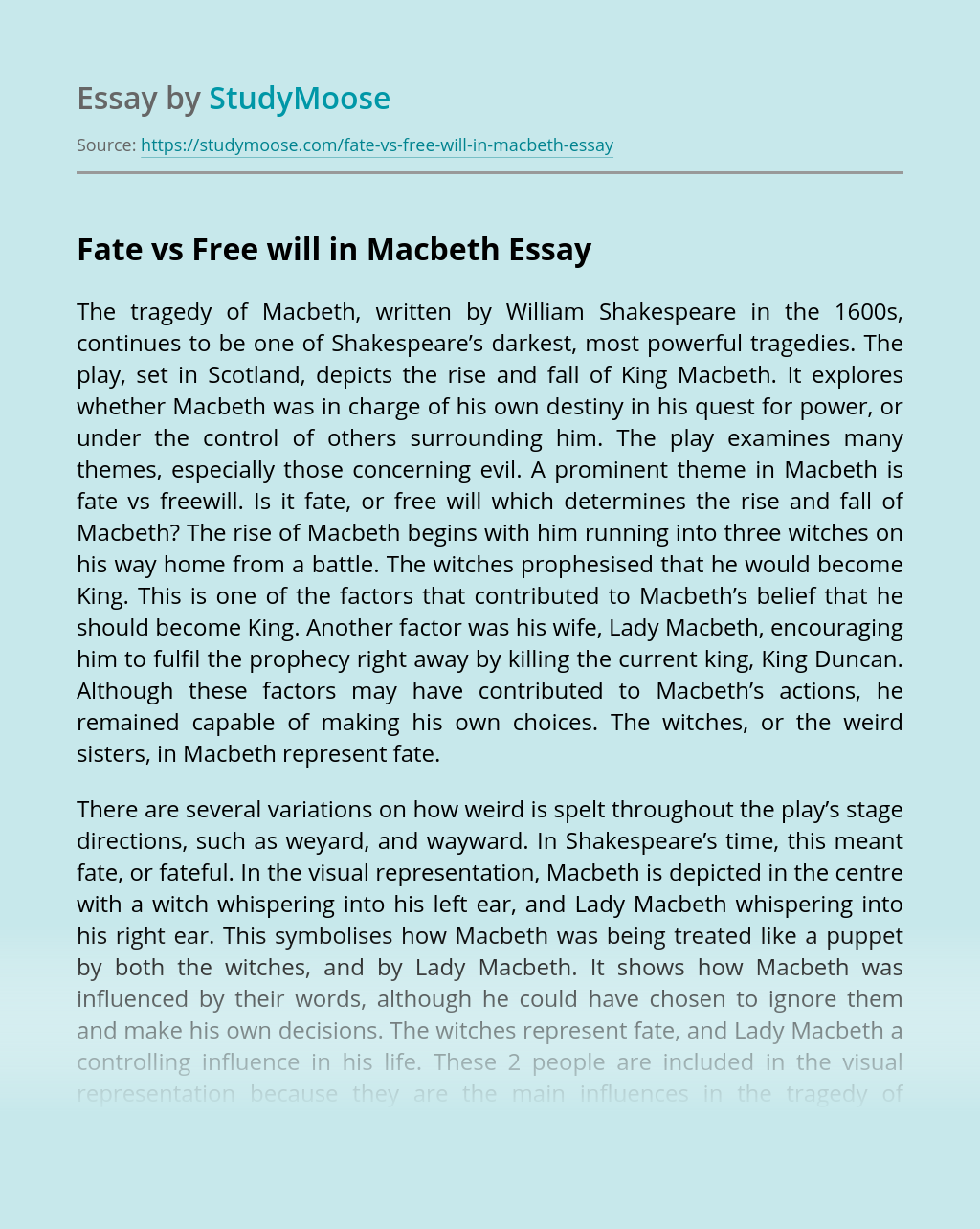 Macbeth essay questions fate pay to do u.s. history and government curriculum vitae
