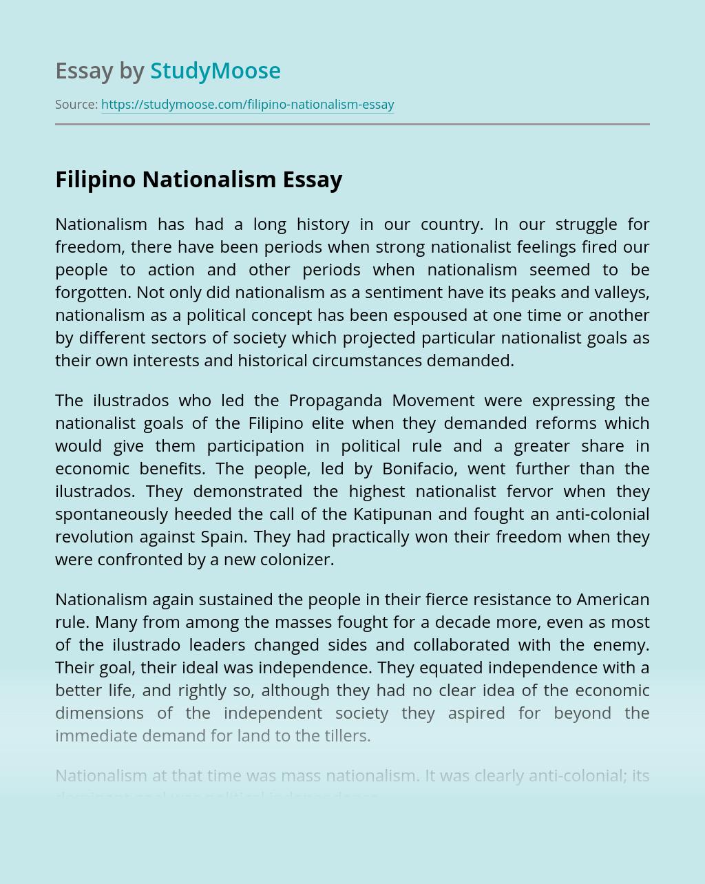 Filipino Nationalism