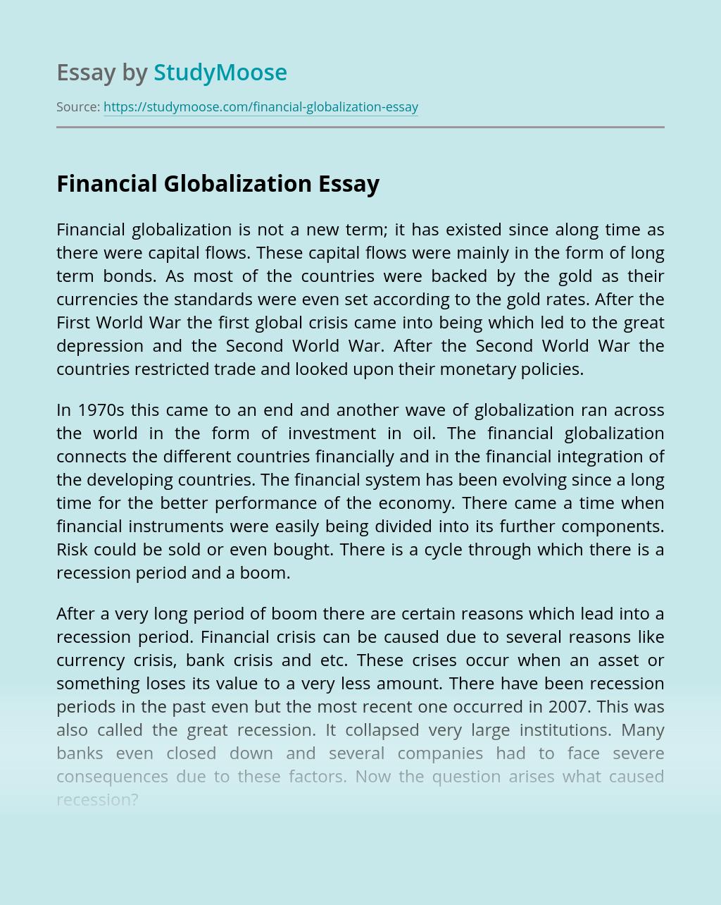 Financial Globalization