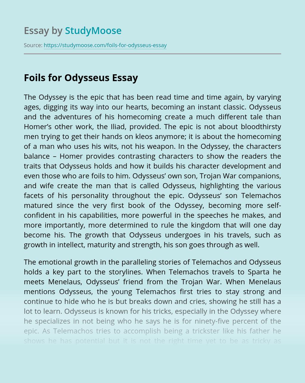 Foils for Odysseus