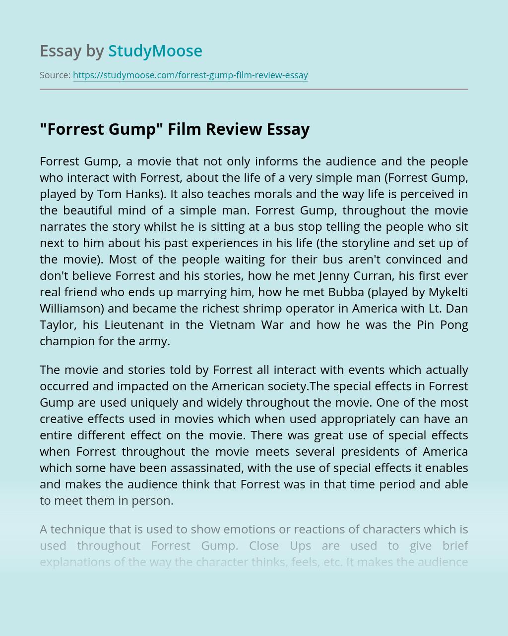 """Forrest Gump"" Film Review"