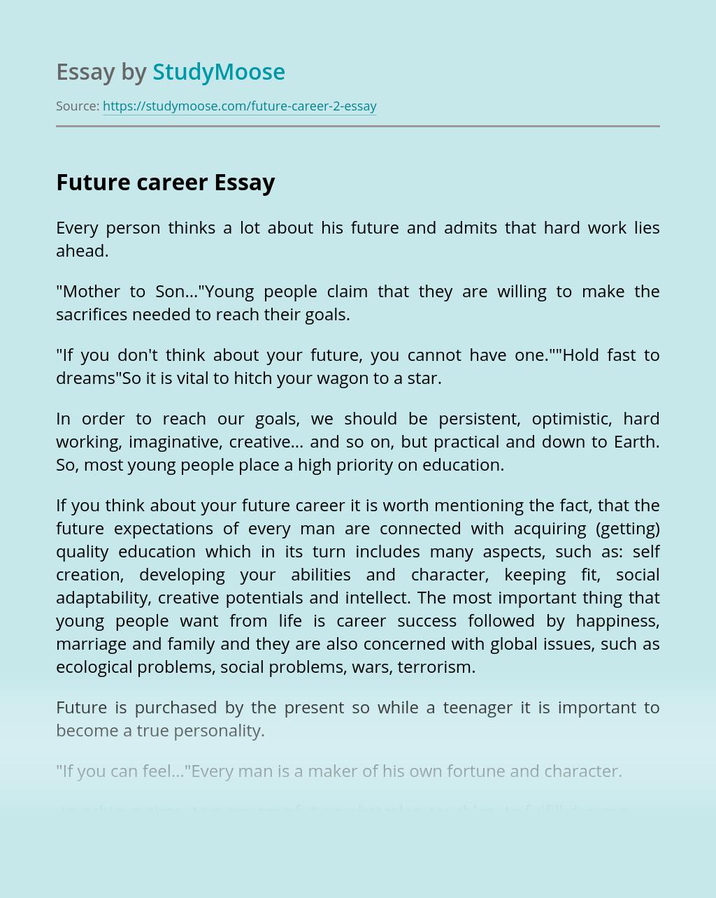 Future career