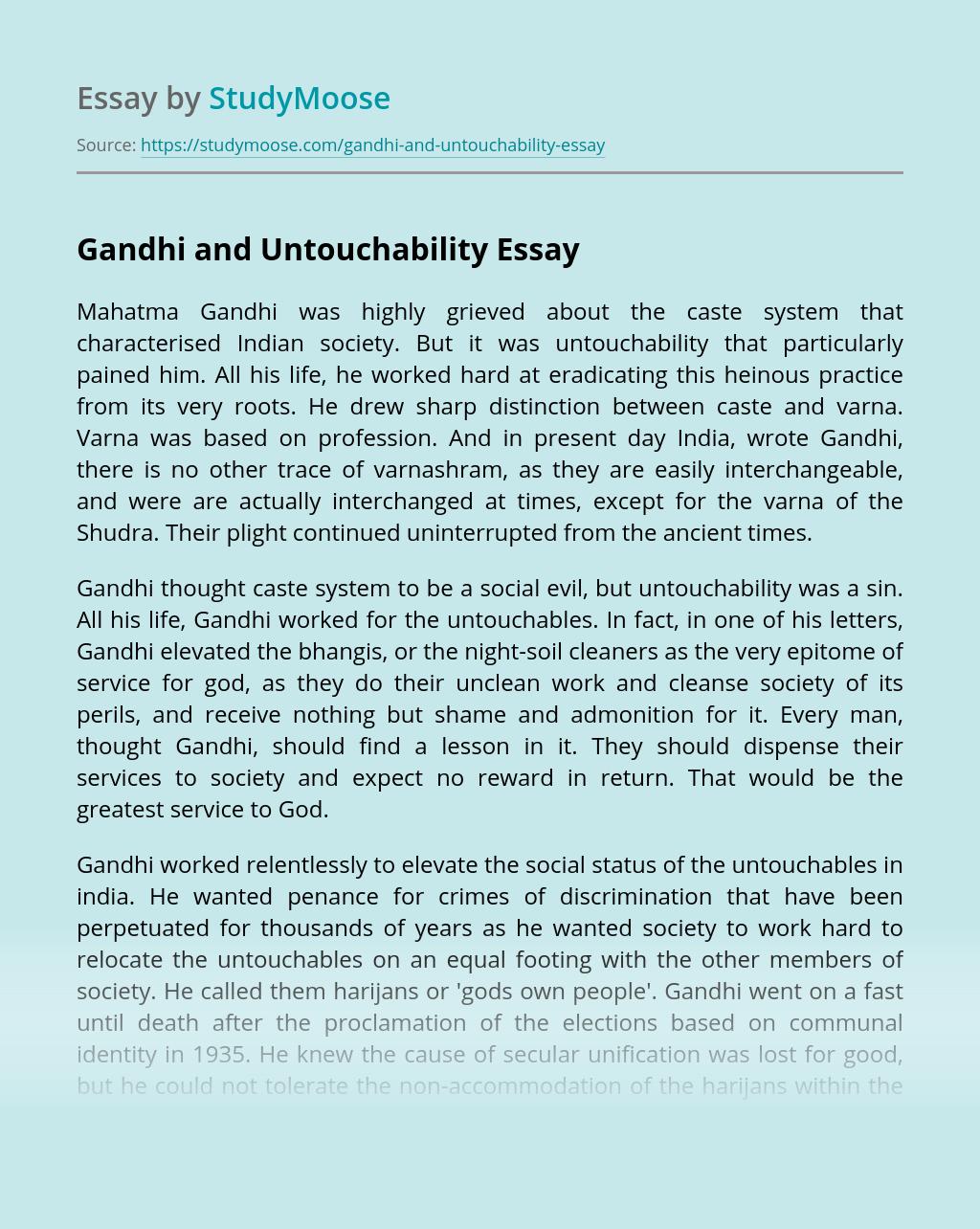 Gandhi and Untouchability