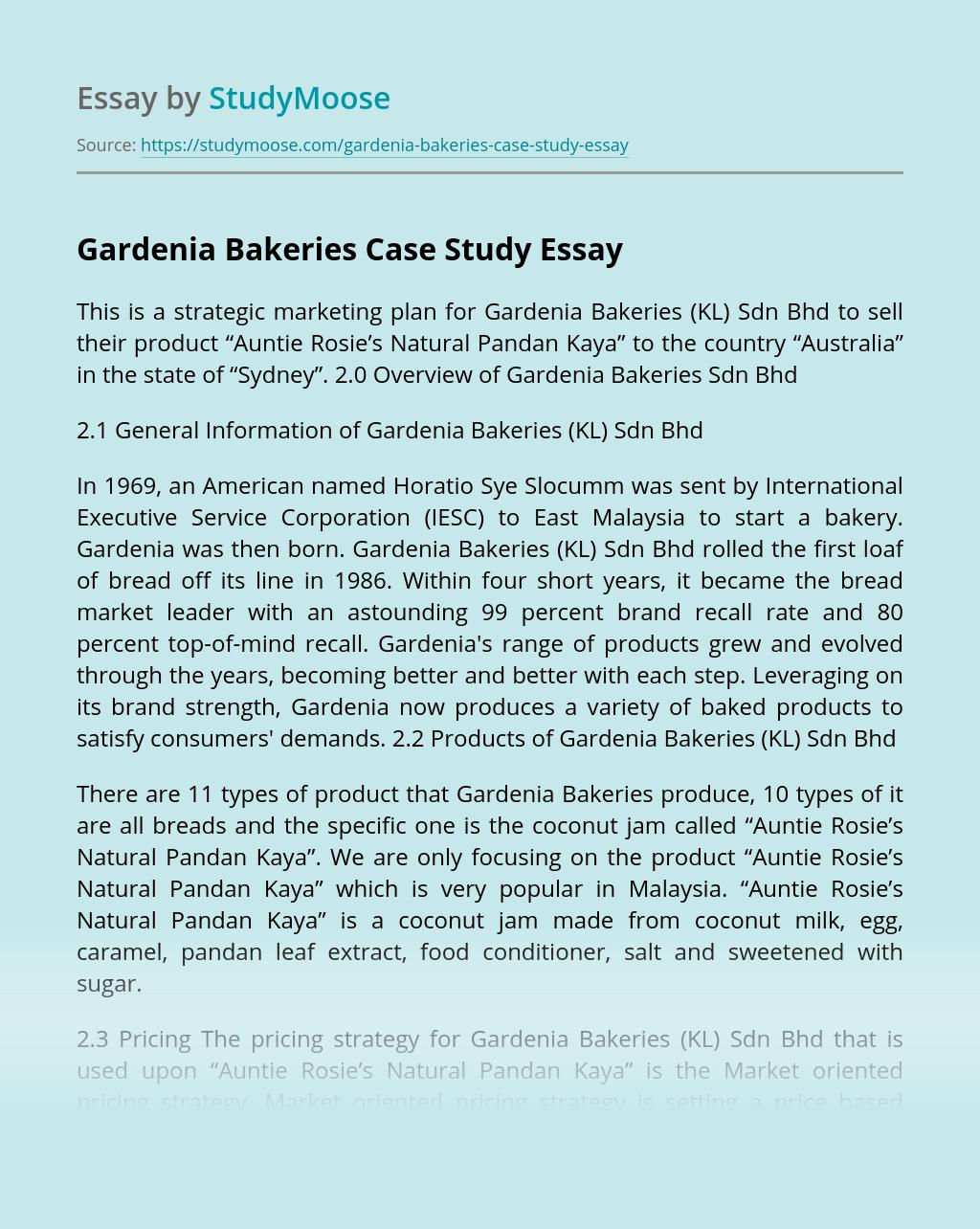 Gardenia Bakeries Case Study