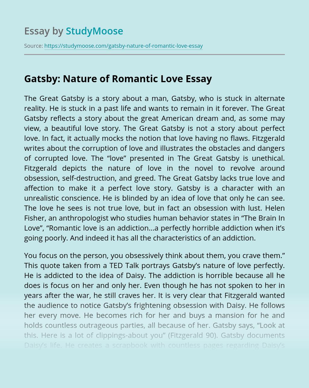 Gatsby: Nature of Romantic Love