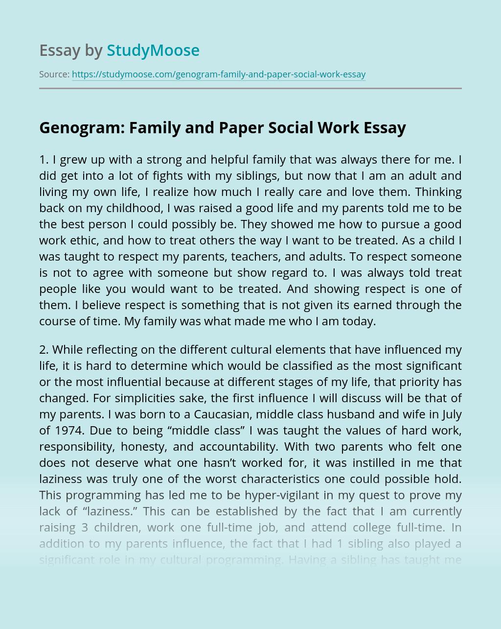 Genogram: Family and Paper Social Work