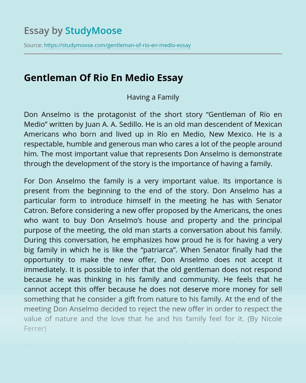 Gentleman Of Rio En Medio