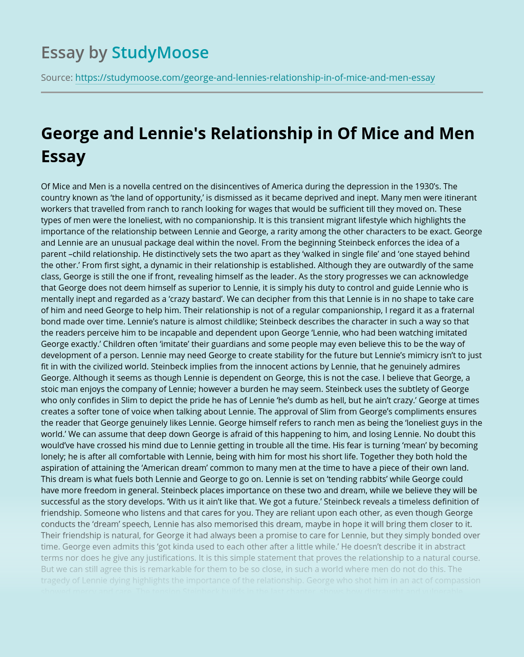 Companionship in of mice and men essay popular masters biography help