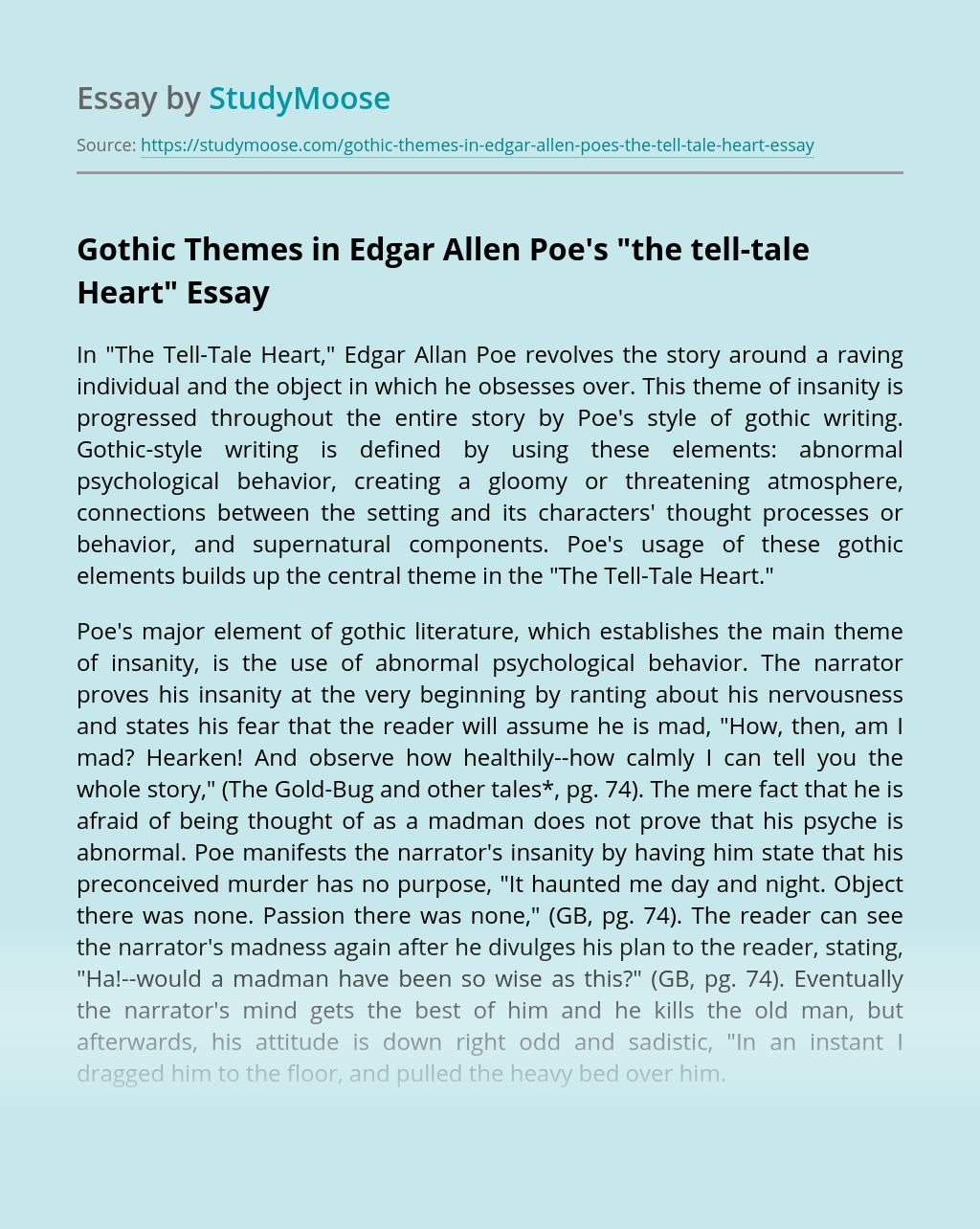 Gothic Themes in Edgar Allen Poe's