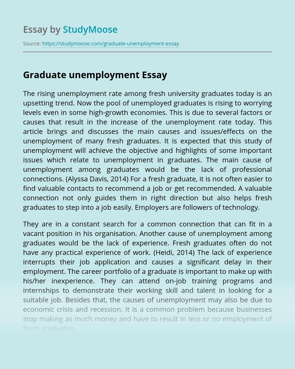 Graduate unemployment