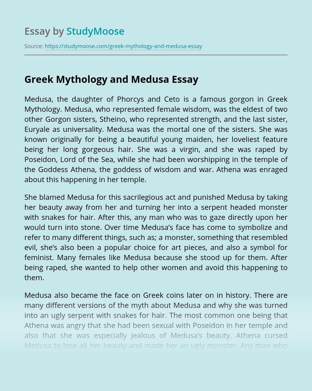 Greek Mythology and Medusa