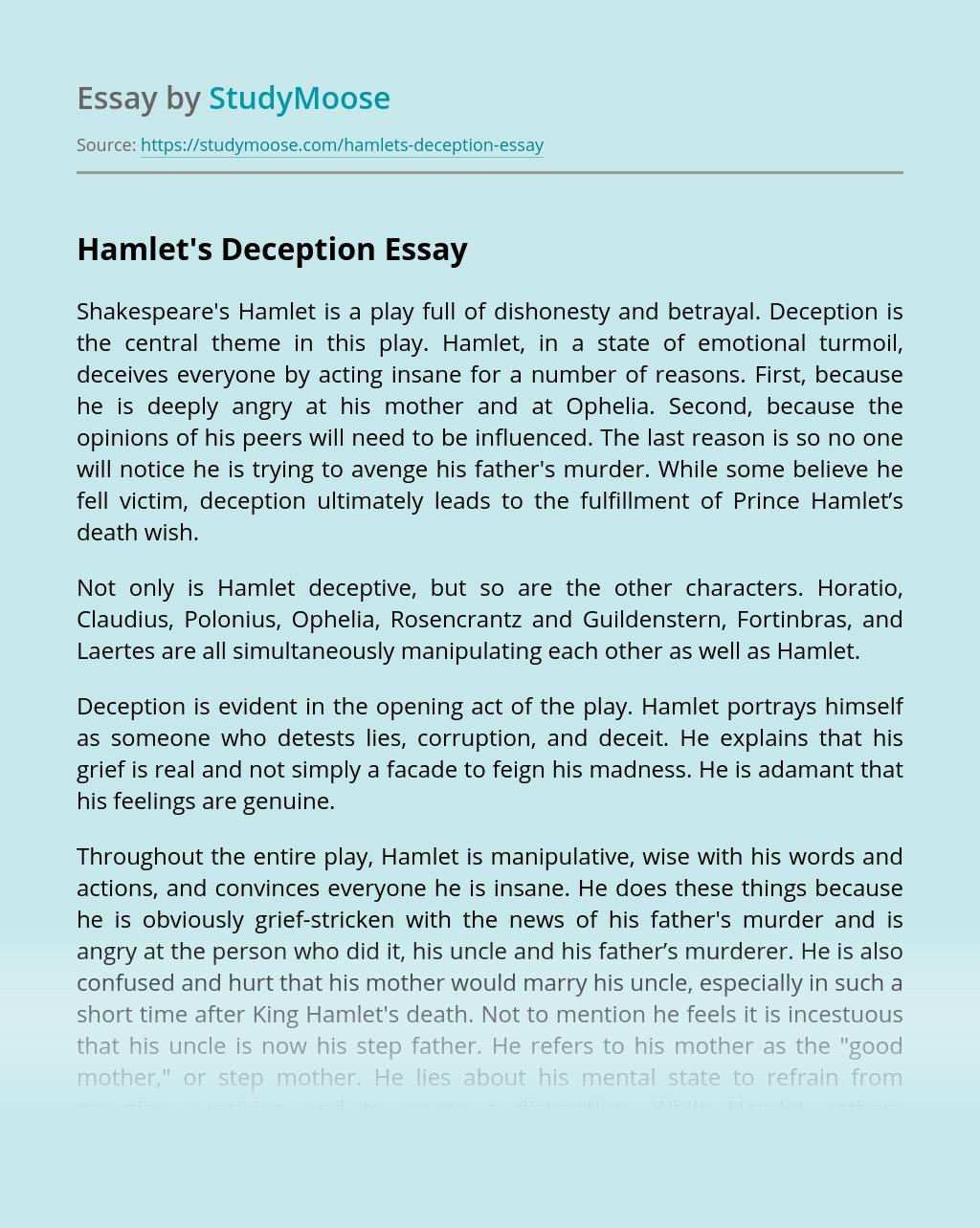 Hamlet's Deception