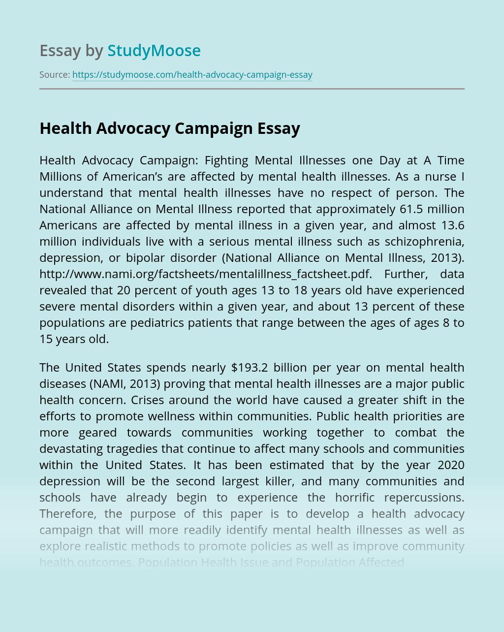 Health Advocacy Campaign
