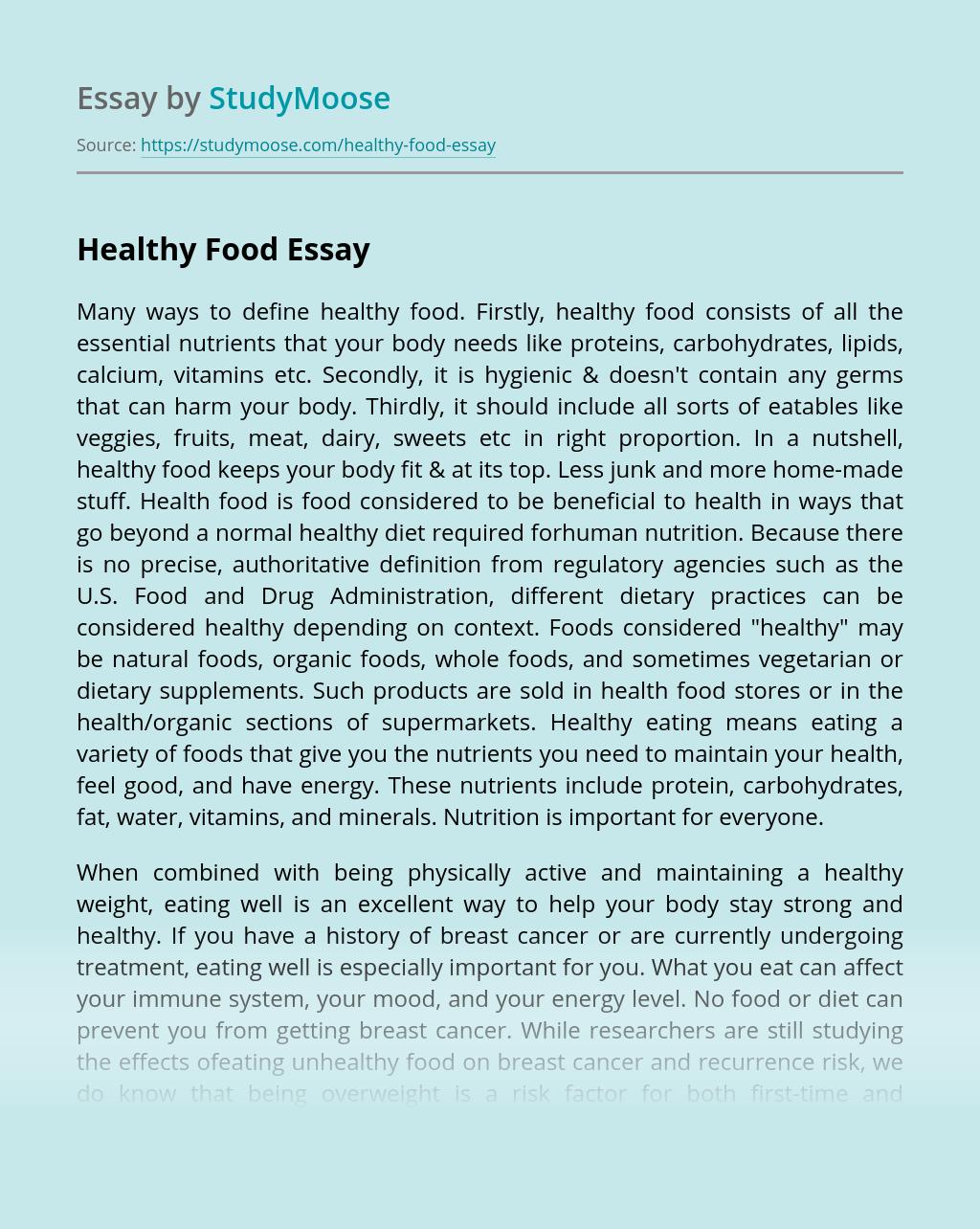 Write the World - Food Essay