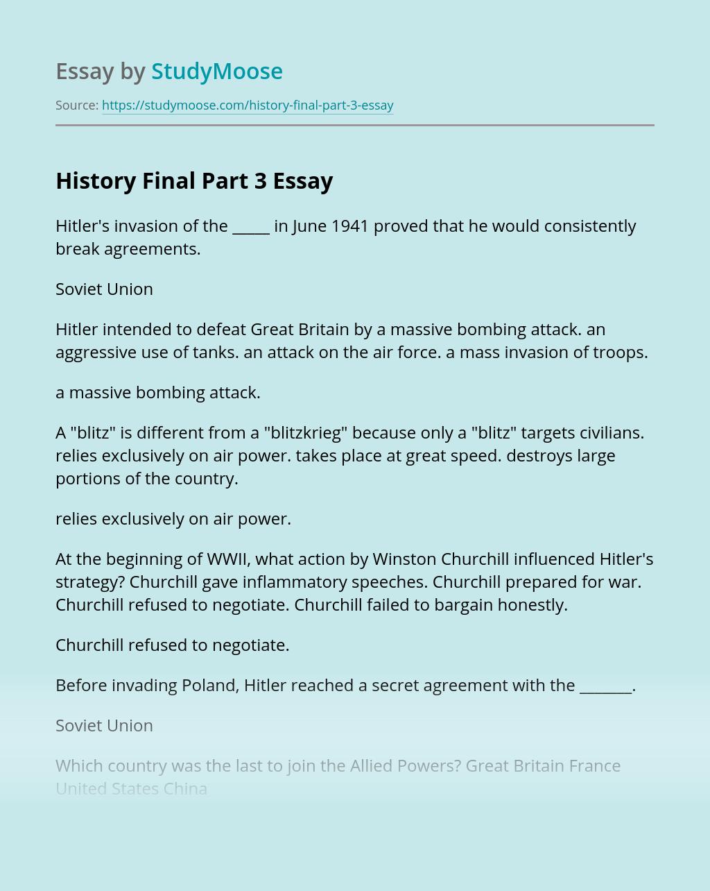 History Final Part 3
