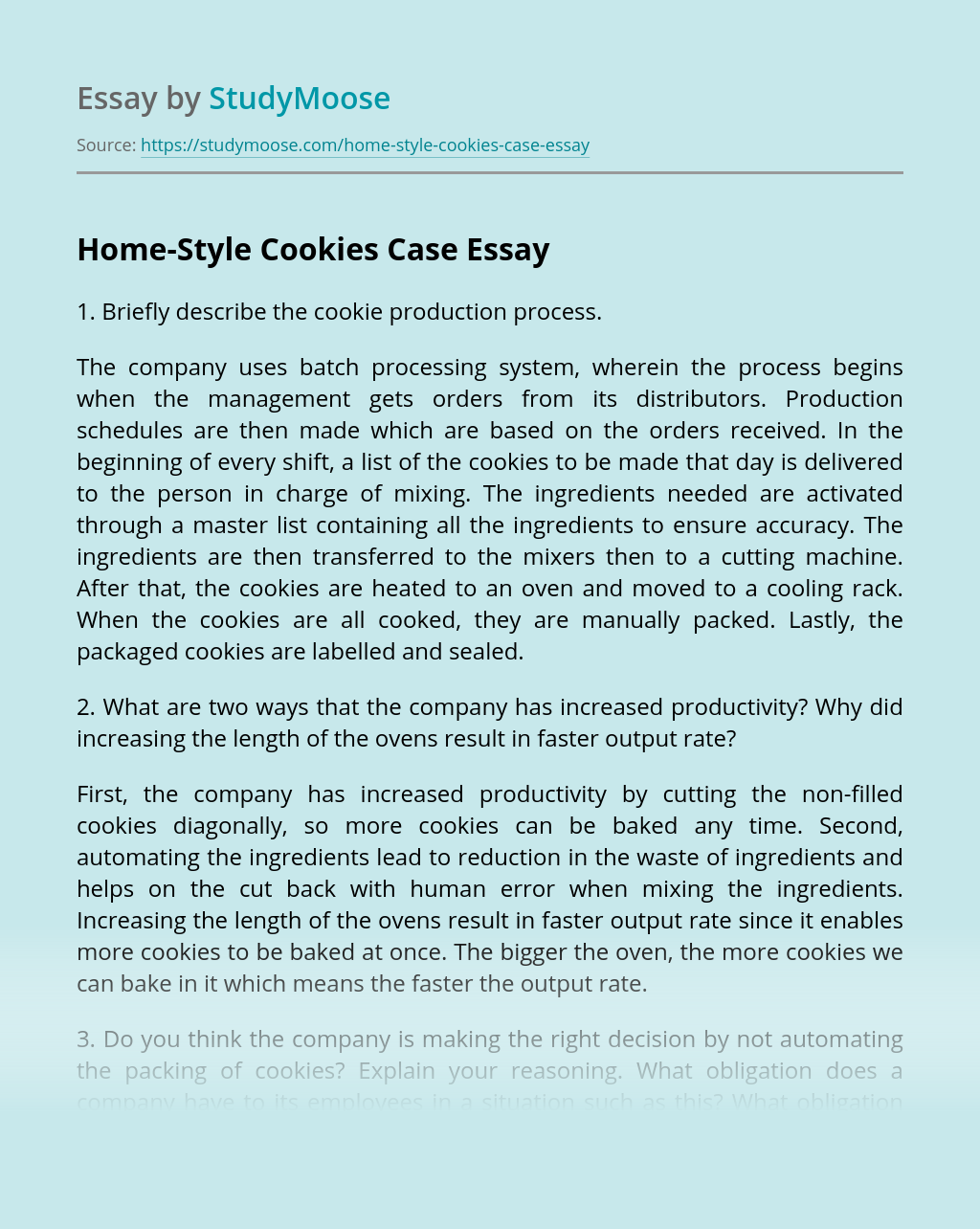 Home-Style Cookies Case