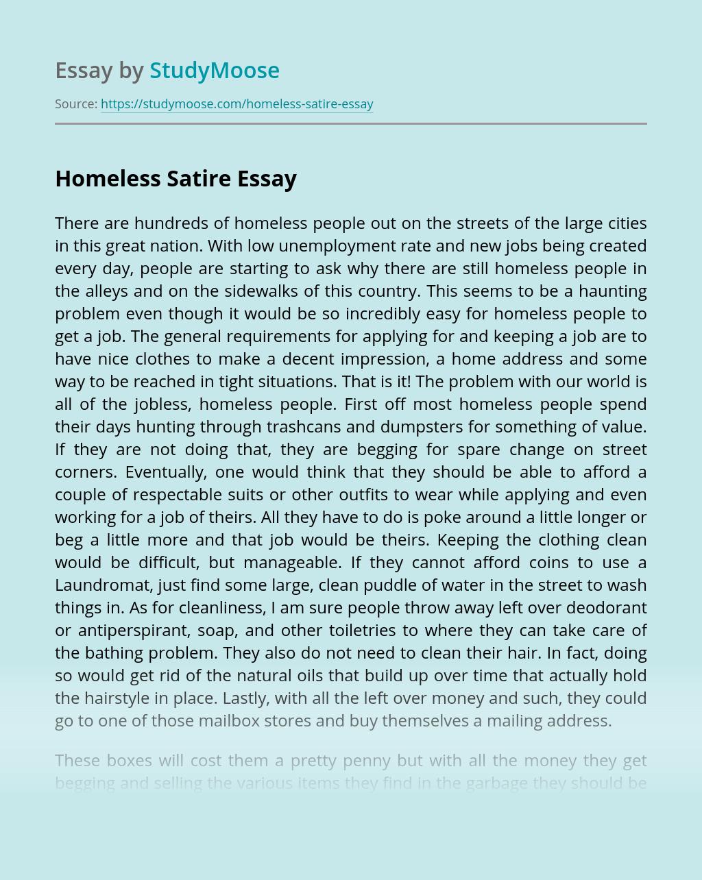 Homeless Satire