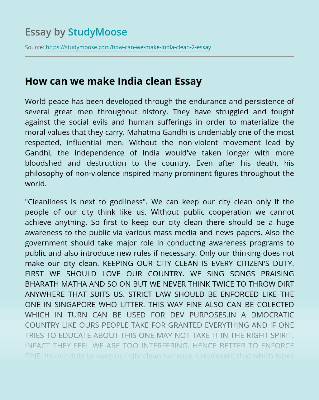 How can we make India clean