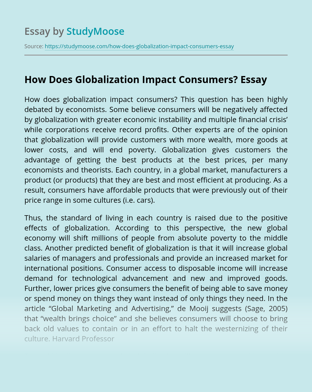 How Does Globalization Impact Consumers?