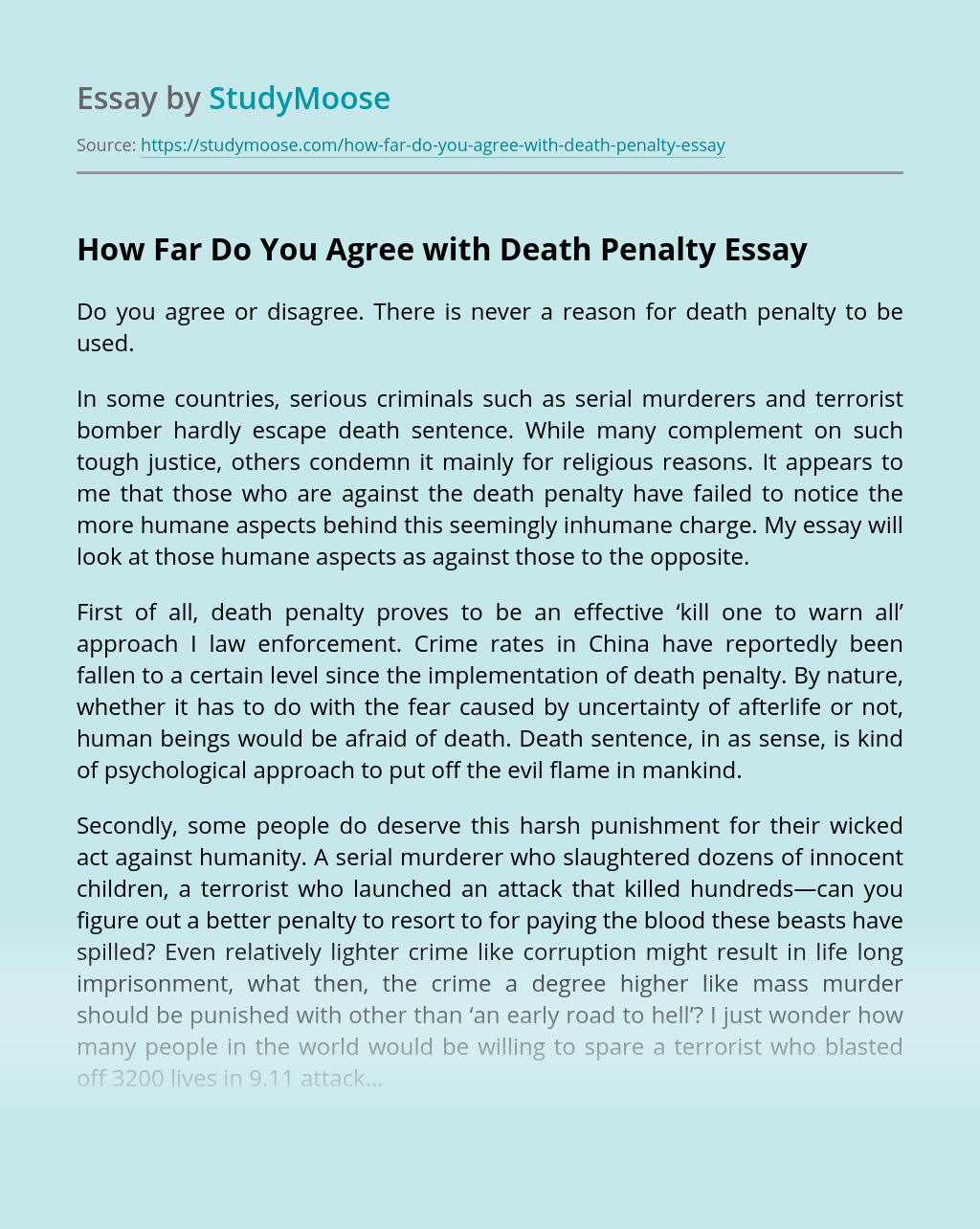 The death penalty is not effective essay resume sample and pharmaceuticals