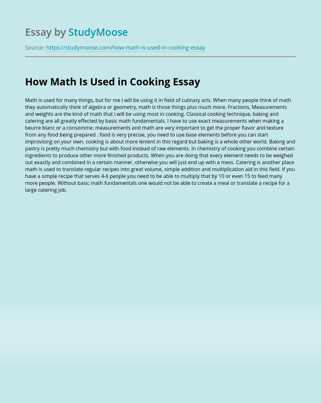 How Math Is Used in Cooking?
