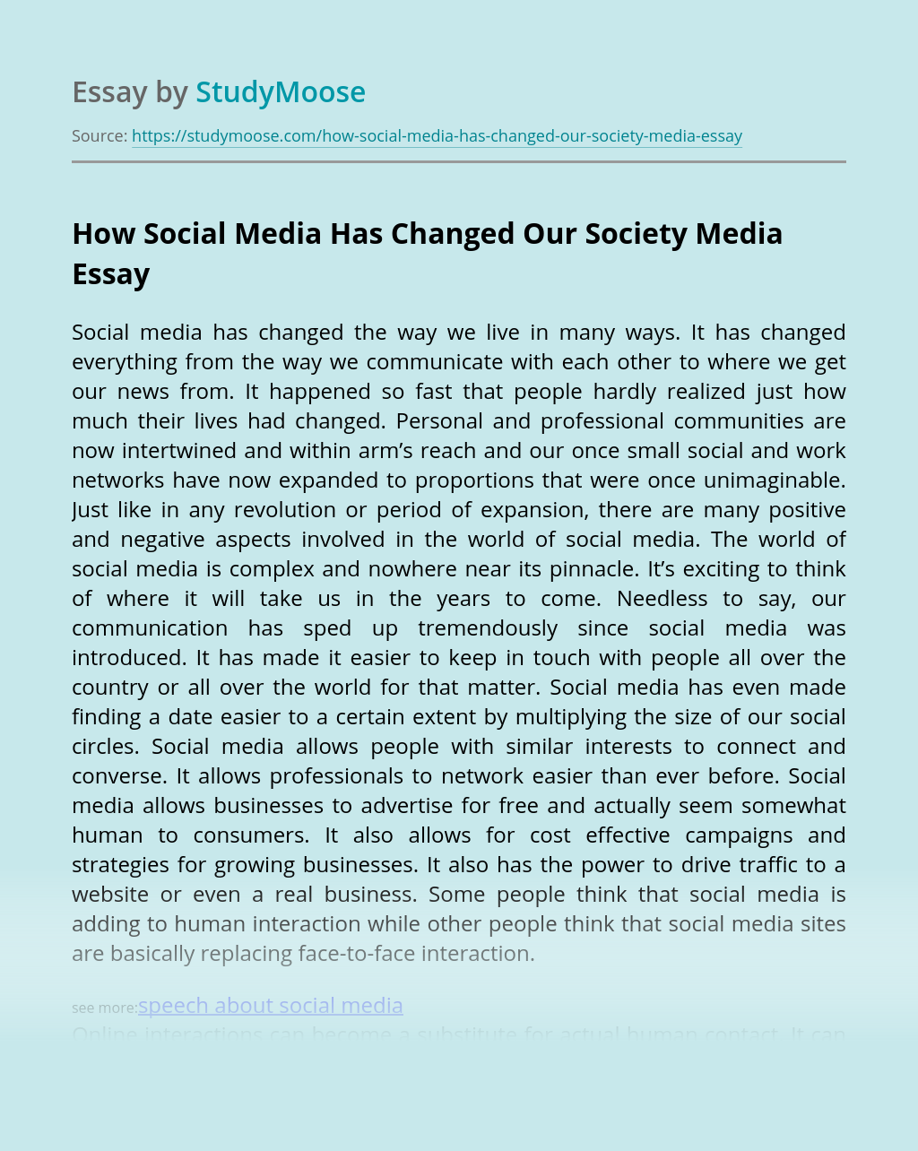 How Social Media Has Changed Our Society Media