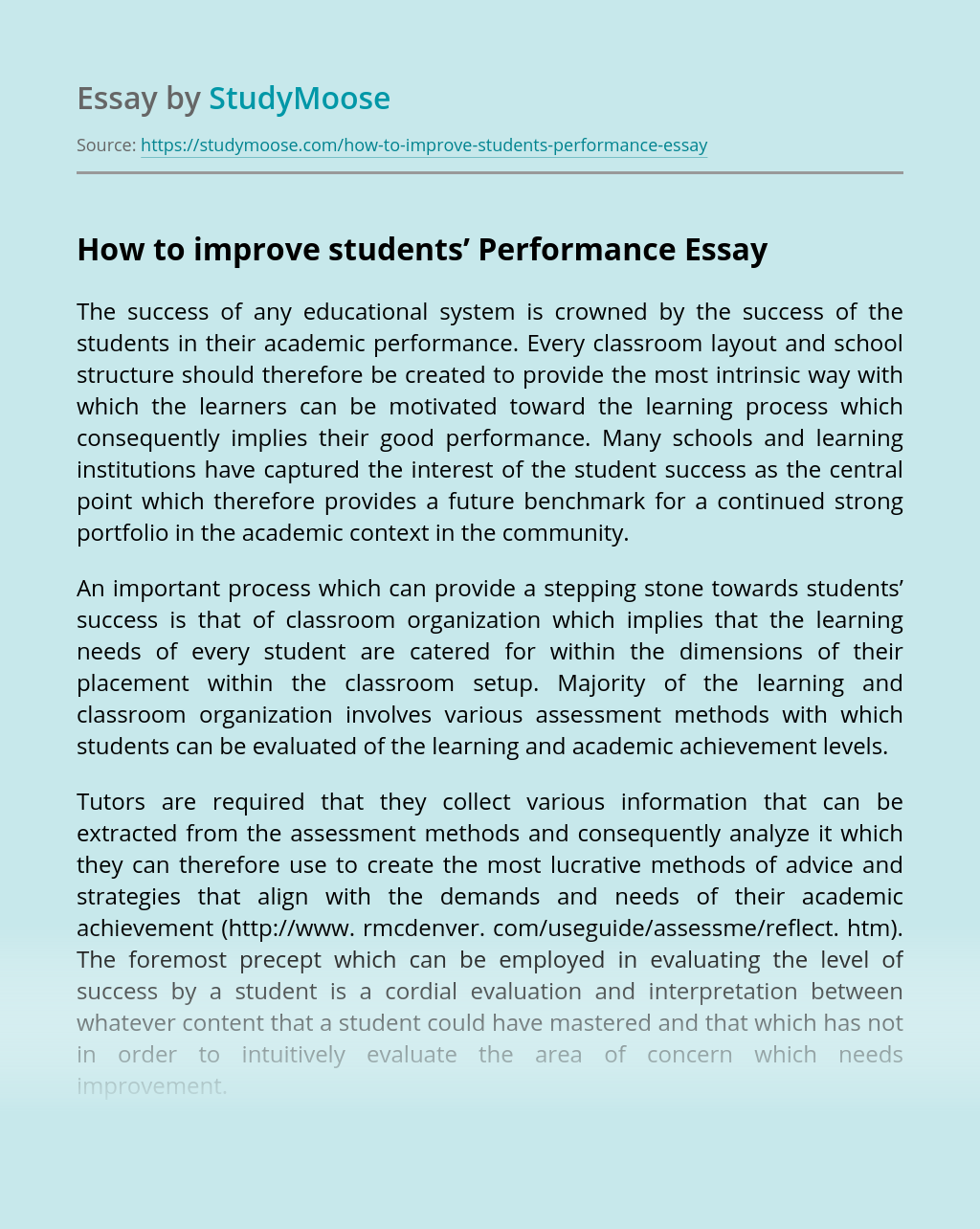 How to improve students' Performance