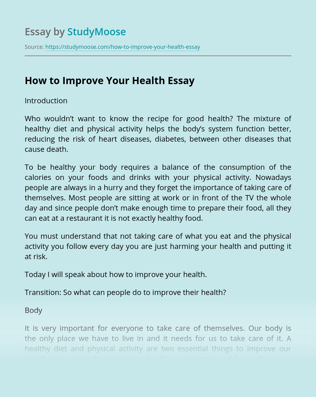 How to Improve Your Health