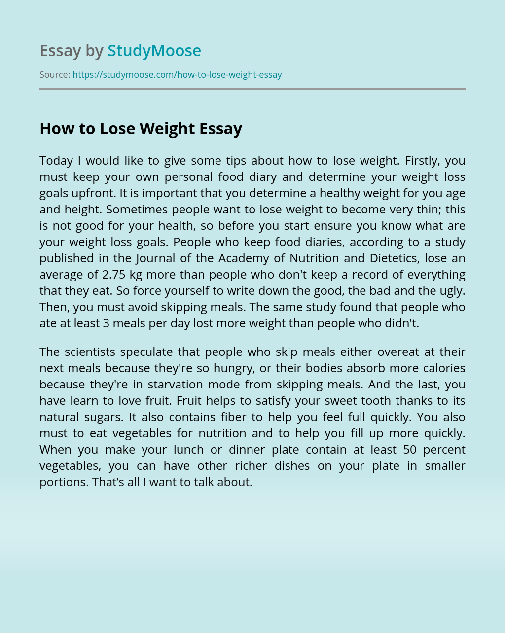 Some tips about how to lose weight