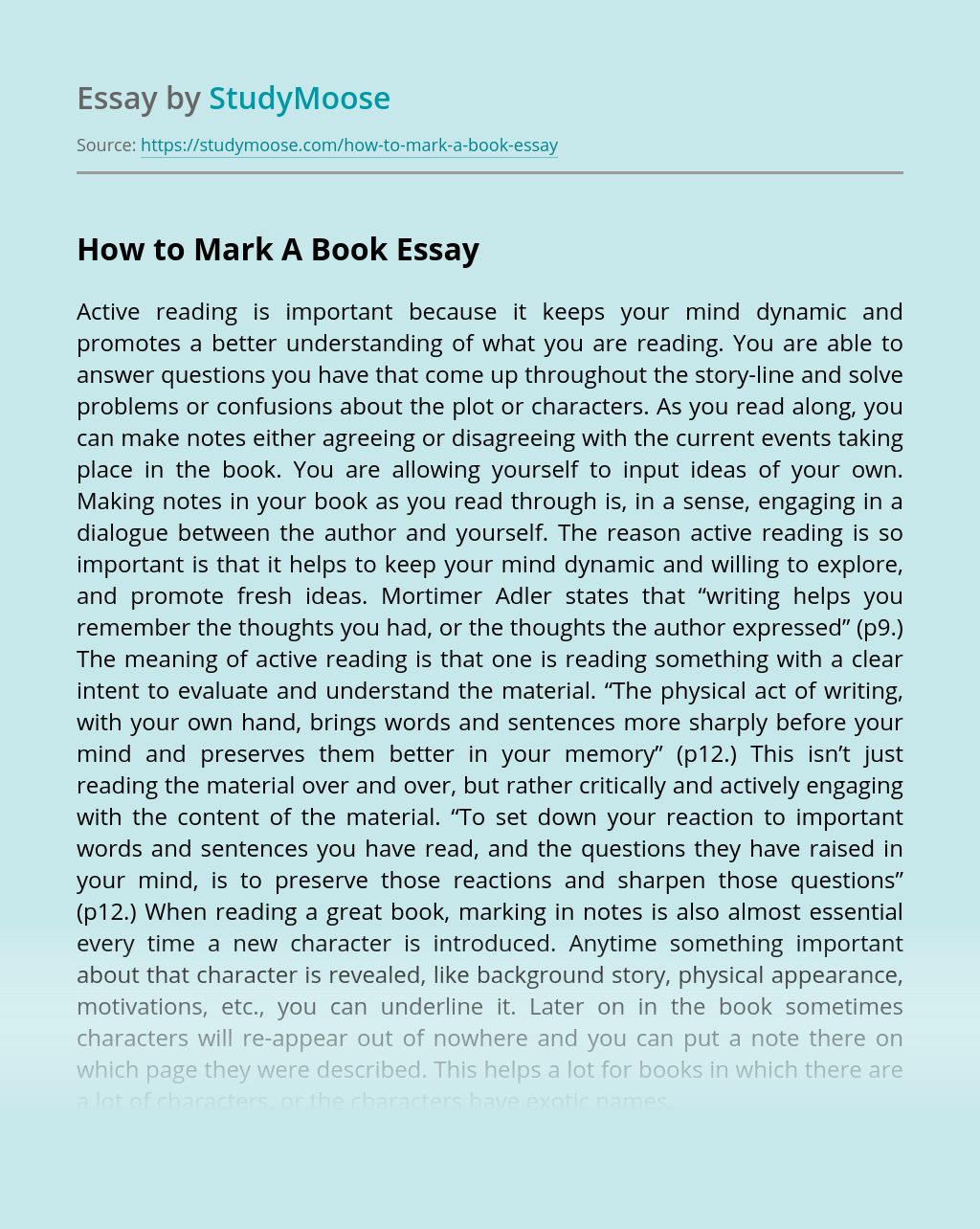 How to Mark A Book?