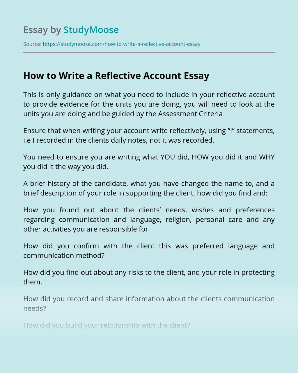 Unit 5- Reflective Account - blogger.com