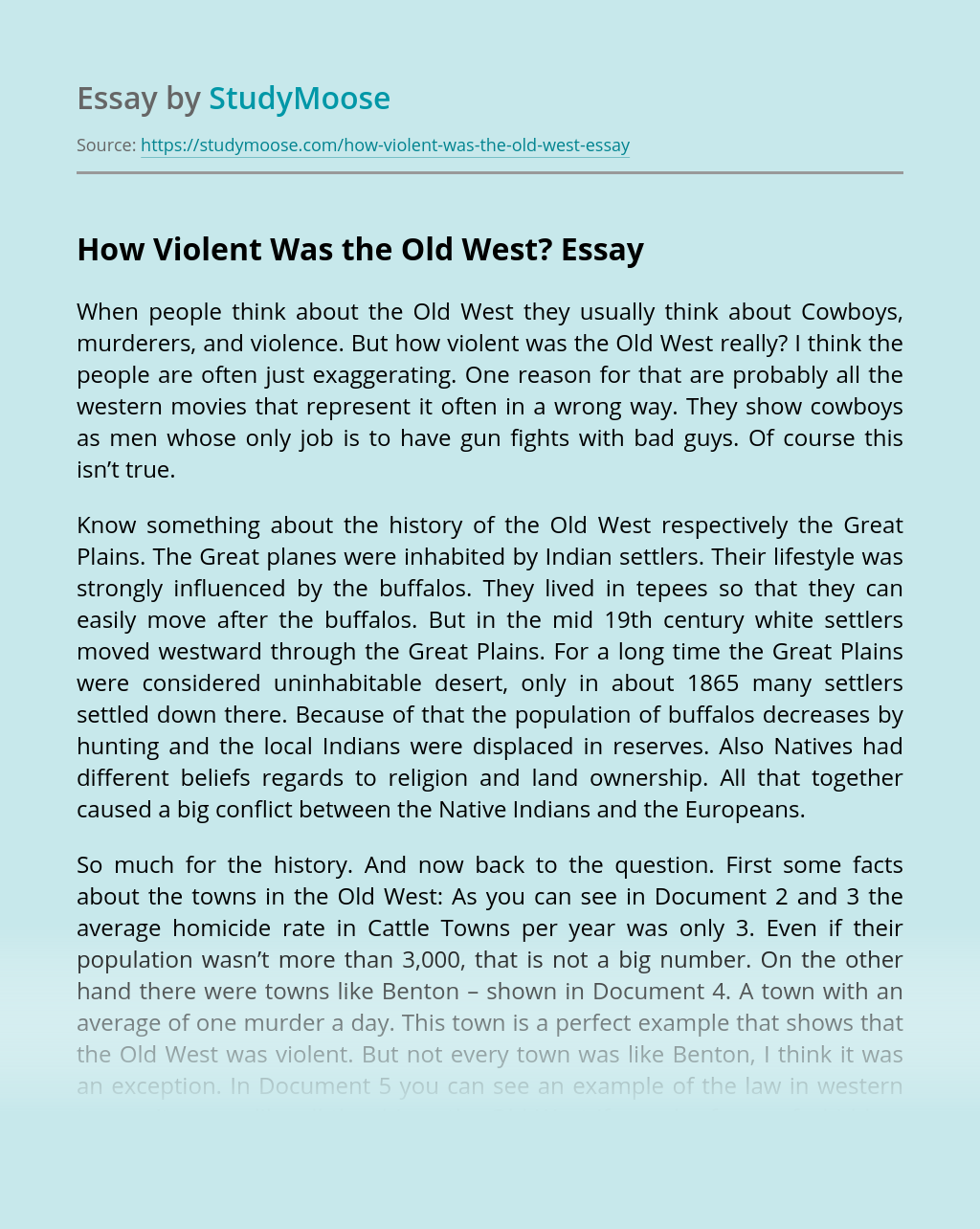 How Violent Was the Old West?
